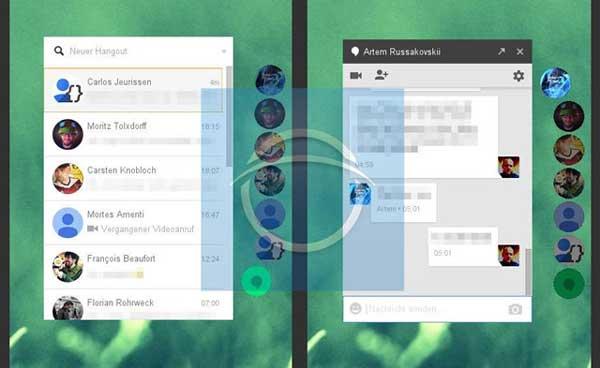 """Google ensaya con """"Ultra violet"""", un rediseño que podría llevar las burbujas de Facebook a Hangouts"""
