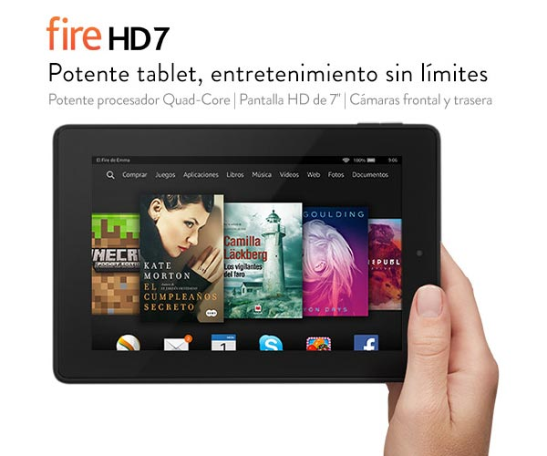 Nuevos Amazon Kindle Fire HD 6 y Amazon Kindle Fire HD 7