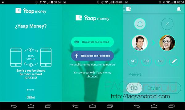 Yaap Money, una aplicación android para enviar dinero