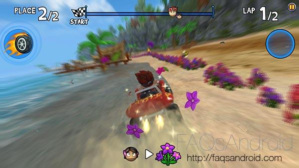 Beach Buggy Racing, un juego arcade de carreras con batallas a lo Mario Kart