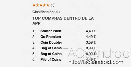 La Google Play Store mostraría en un futuro el precio de las compras dentro de las apps