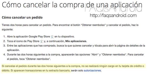 Google Play Store amplía el periodo de devolución de las apps y juegos a 2 horas