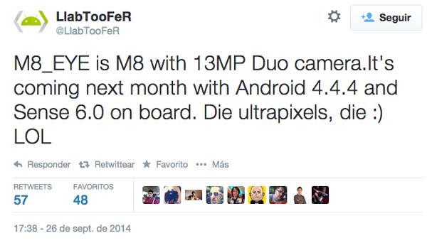 """Llega el HTC One M8 Eye, un nuevo """"hasta luego"""" a los ultrapíxeles"""