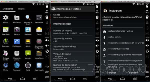 Genymotion, emulador Android sencillo de instalar y listo para usar apps en ordenador