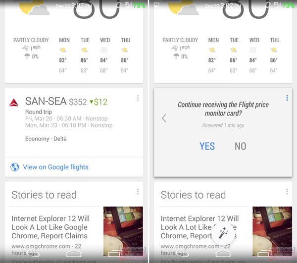 Google Now tendrá seguimiento de vuelos para que compremos cuando más nos interese