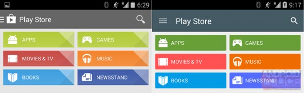 Google Play Store 5.0 se viste con Material Design para recibir a Android L