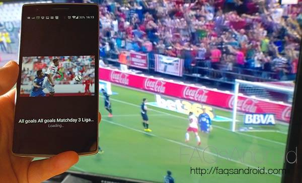 La Liga TV, toda la información con goles, partidos y soporte para Google Chromecast