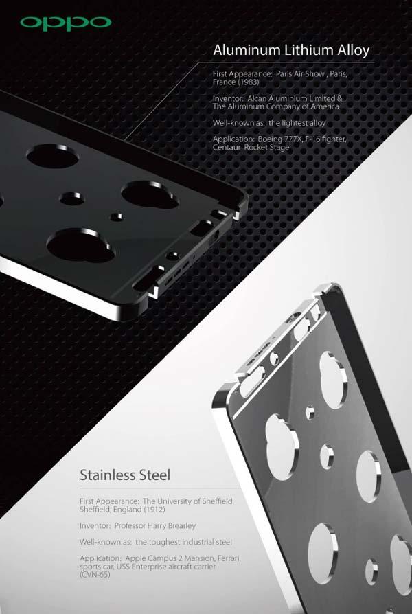El Oppo N3 será metálico y tendrá dos modelos para elegir: acero o aluminio