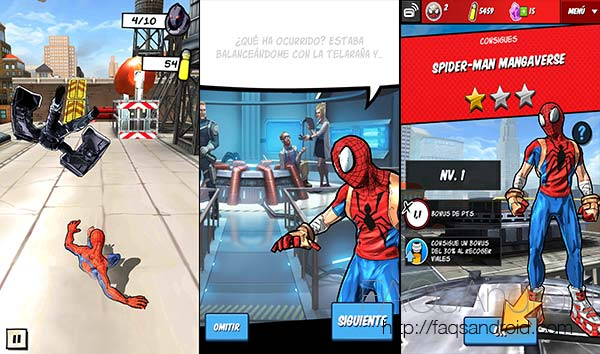 Spider-Man Unlimited: grandes gráficos, personajes del cómic y mecánica runner