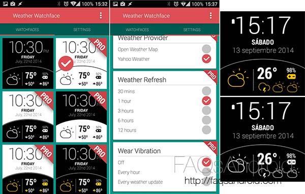 Las cinco mejores esferas o watchfaces para los relojes con Android Wear