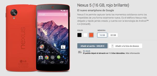 El Nexus 5 se seguirá vendiendo desde 349 euros