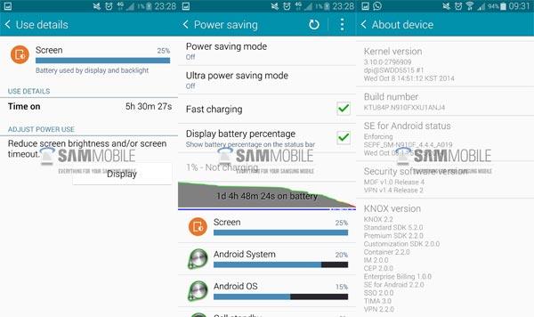 El Samsung Galaxy Note 4 se actualiza mejorando la autonomía