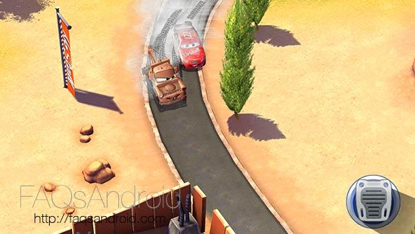 Cars: rápidos como el rayo, juego a caballo entre carreras simples y gestión