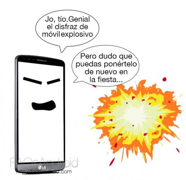 Disfraz móvil explosivo