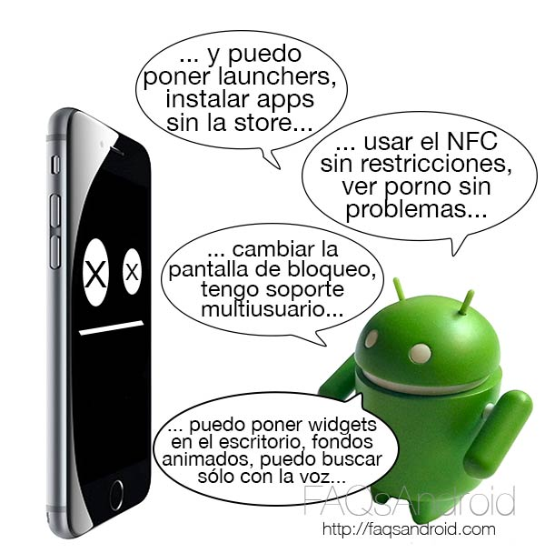 5 formas divertidas de convertir a Android al usuario de iPhone