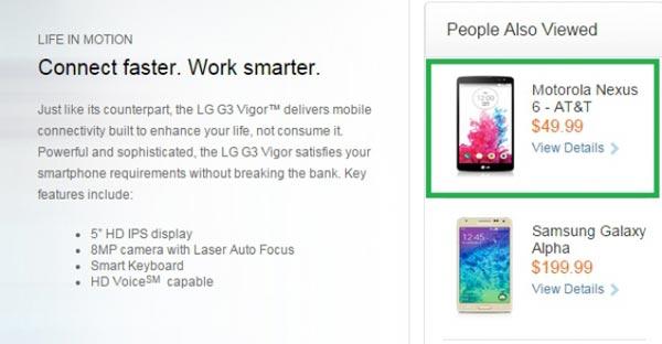 El Nexus 6 deja pistas de su precio antes de su lanzamiento