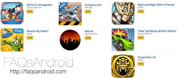 20 euros en juegos Android gratis a través de la Amazon Appstore