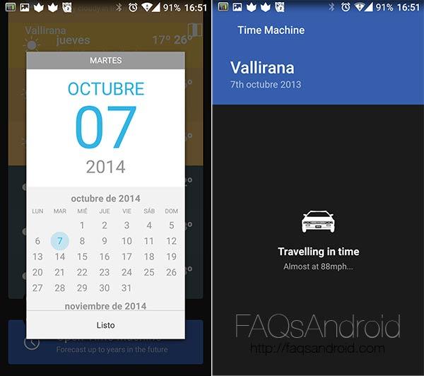 Weather Timeline, una aplicación meteorológica con máquina del tiempo