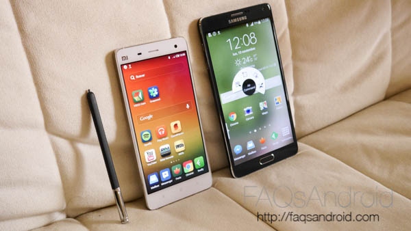 Samsung Galaxy Note 4 vs Xiaomi Mi4