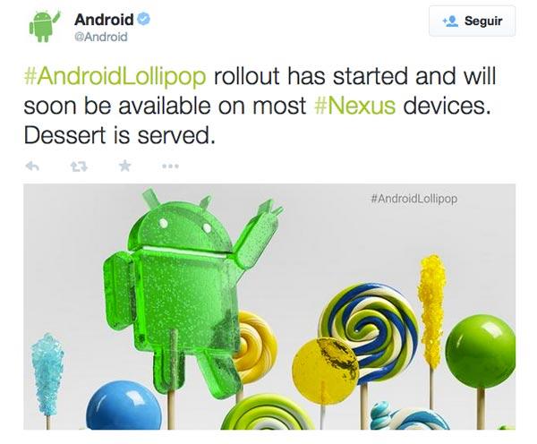Google libera al fin la actualización a Android 5.0 Lollipop para los Nexus