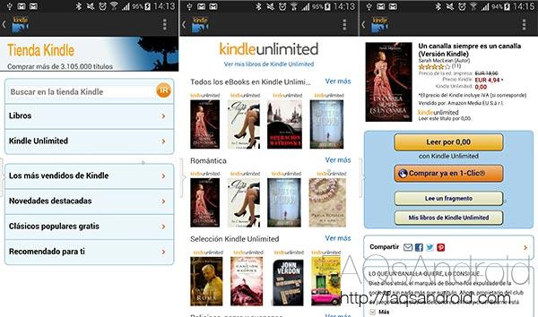 Lectura ilimitada en Android con Amazon Kindle Unlimited