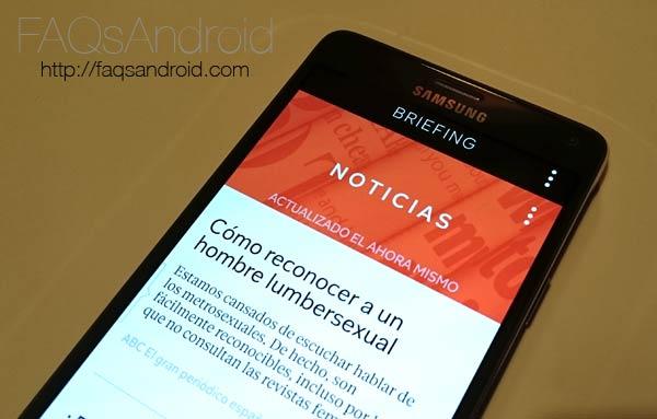 Cómo desactivar la pantalla de Briefing o Flipboard en el Samsung Galaxy Note 4