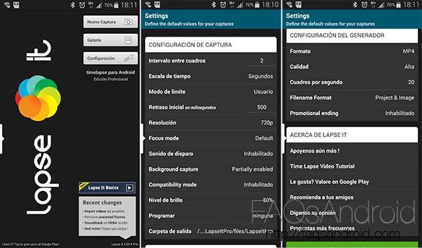 Lapse It, la mejor aplicación para tomar Time Lapse en Android