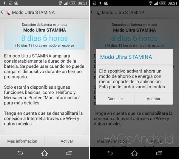 Todo sobre Stamina, cómo exprimir al máximo la batería de los Sony Xperia