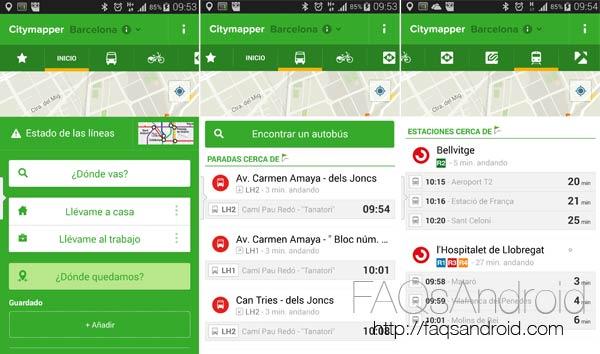 Las mejores aplicaciones para moverse en transporte público con Android