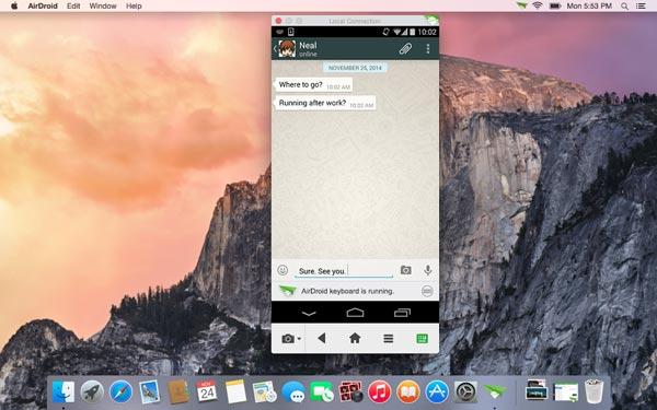 Cómo usar WhatsApp en el PC con AirDroid