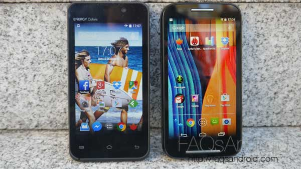 Motorola Moto E vs Energy Phone Colors: lo más barato