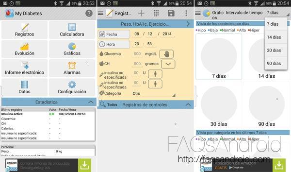 Tres apps Android con las que hacer el seguimiento de la diabetes
