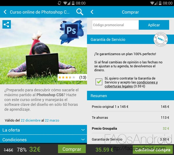Las mejores ofertas en tu mano con Groupalia para Android