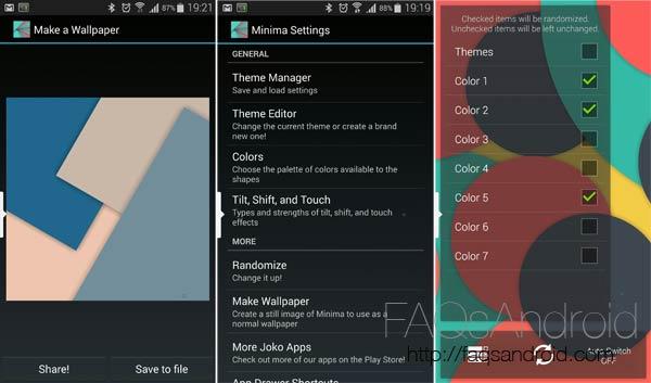 Minima Live Wallpaper, fondos de pantalla animados a tope de Material Design
