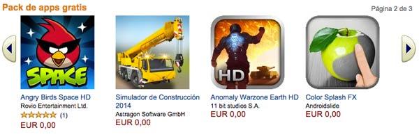 Regalo de Navidad anticipado de Amazon: 175 euros en apps y juegos gratis