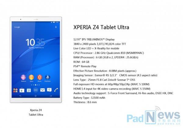 ¿Fantasía o realidad? Aparece un supuesto Sony Xperia Z4 Tablet Ultra de 13 pulgadas