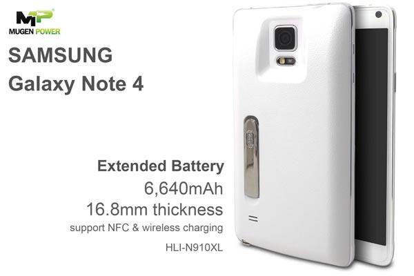 Triplica la batería de tu Samsung Galaxy Note 4 gracias a Mugen