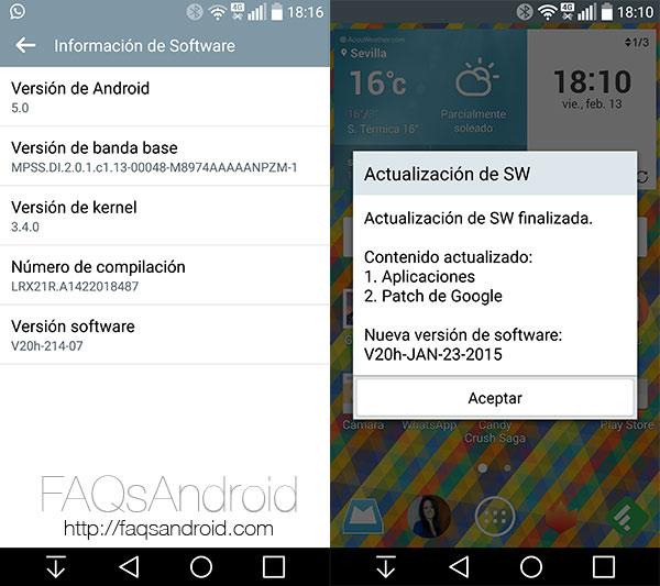 La actualización 20h del LG G3 habilita el 4G con Pepephone