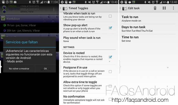 Cómo programar el modo avión en Android