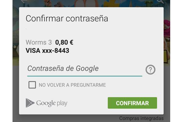 Cómo proteger las compras de Google Play con contraseña