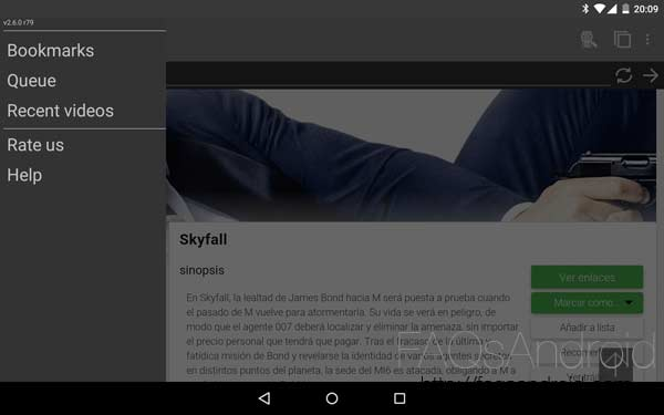 Cómo ver vídeos online en una tablet android: Web Video Caster + MX player