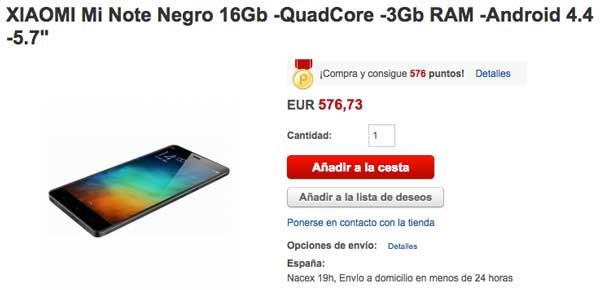 Los precios del Xiaomi Mi Note y Mi Note Pro y cómo comprarlo desde España