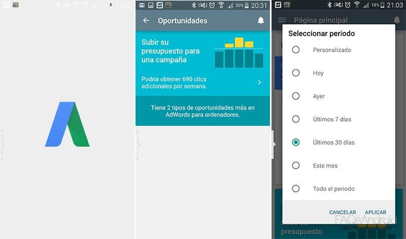 Administra tu cuenta de AdWords desde Android con la nueva app de google