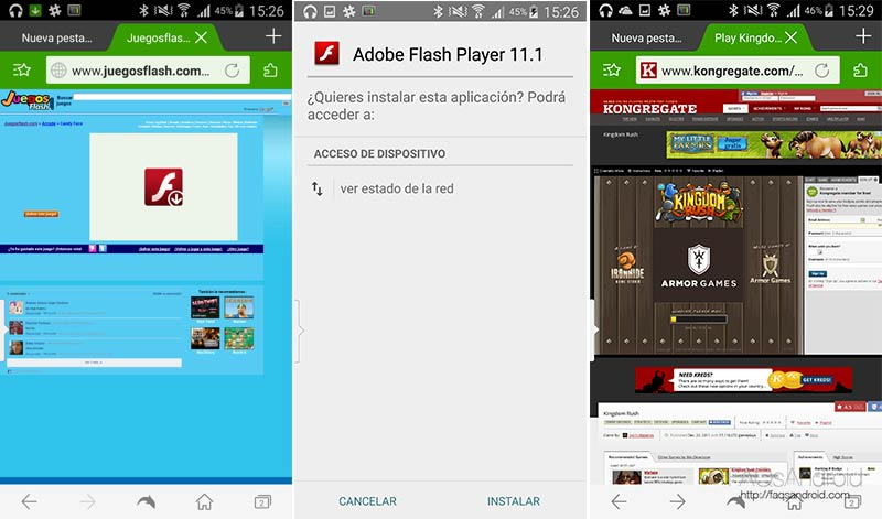 Adobe Flash en Android
