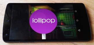 Android Lollipop 5.1 en Nexus