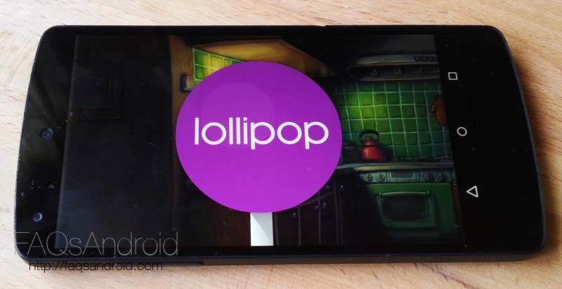 Android Lollipop en Nexus 5