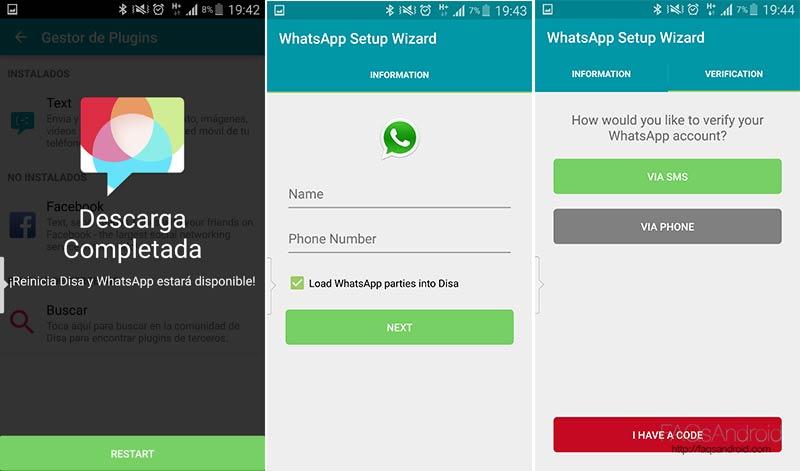 Dos líneas de WhatsApp en un mismo móvil