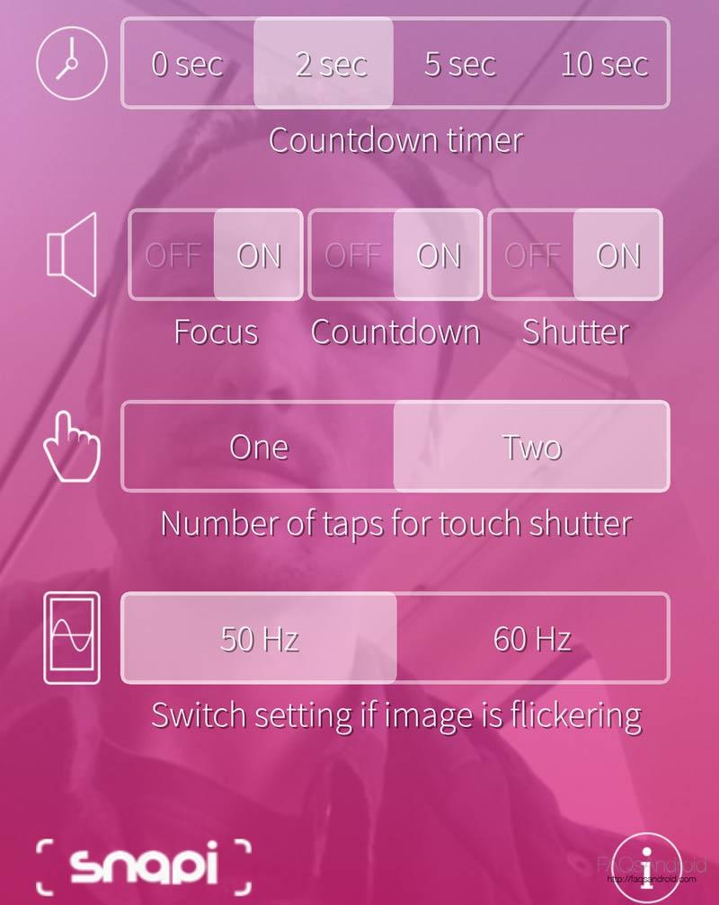 Hazte selfies a lo LG G3 con Snapi: abriendo y cerrando la mano