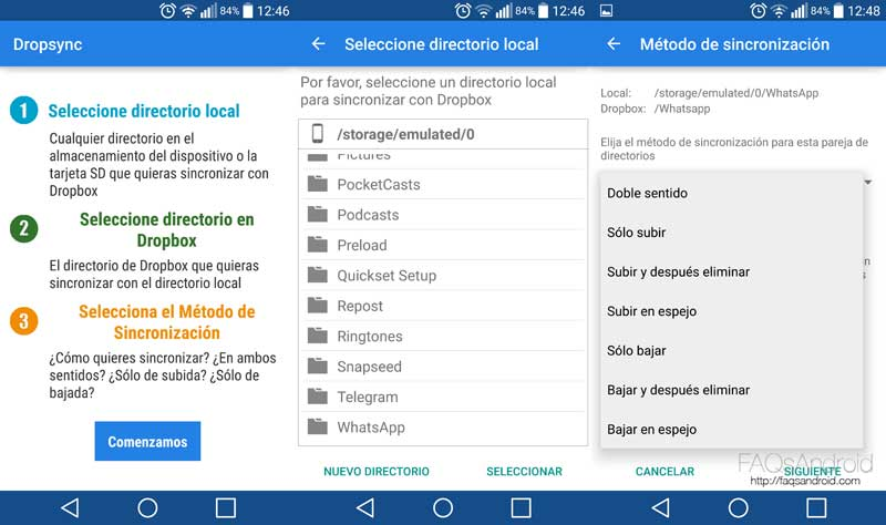Cómo sincronizar WhatsApp con Dropbox o Google Drive