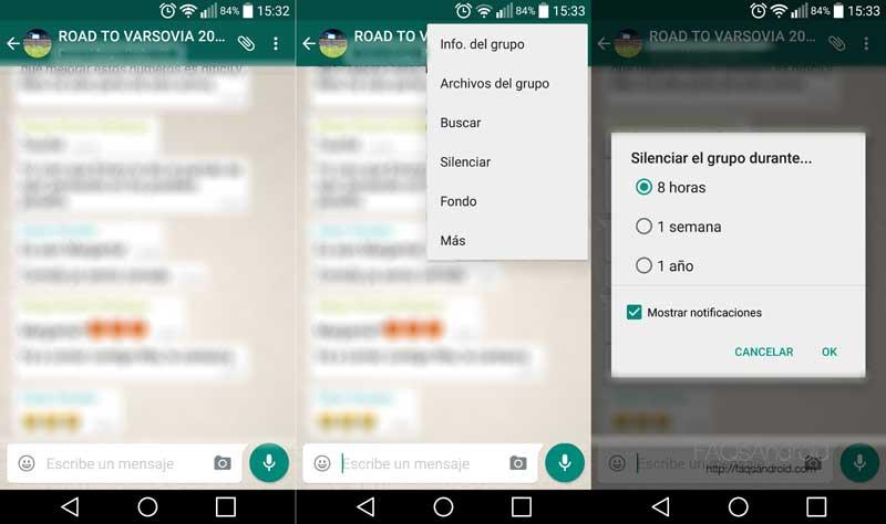 Cómo silenciar usuarios concretos o grupos en WhatsApp